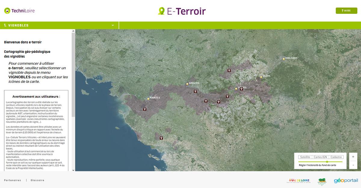 Loire et Terroirs : les UTB sur l'outil E-Terroir de Techniloire.com