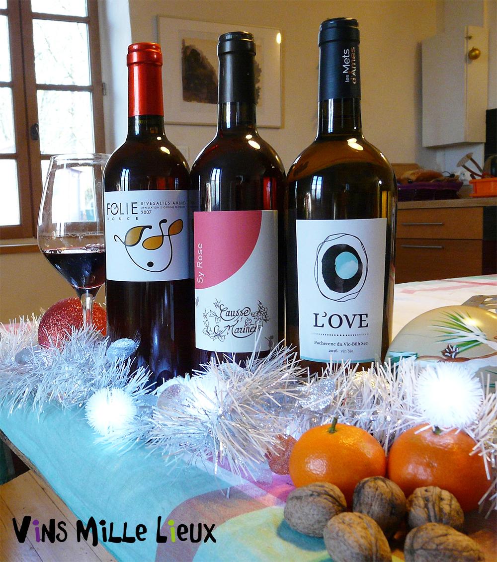 sélection de vins pour les fêtes