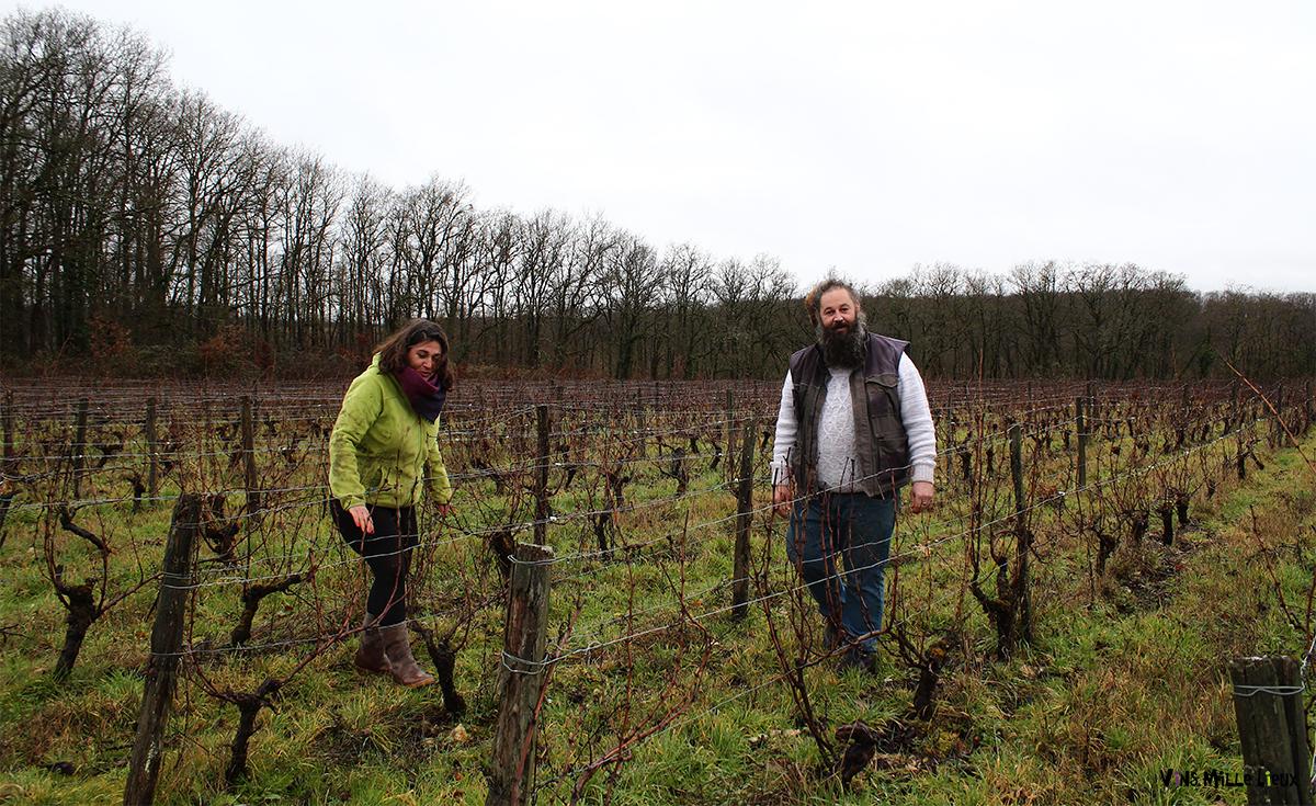 Visite au domaine Les Folies Douces, Alison Clément et Benoist Dumergue (Indre-et-Loire)