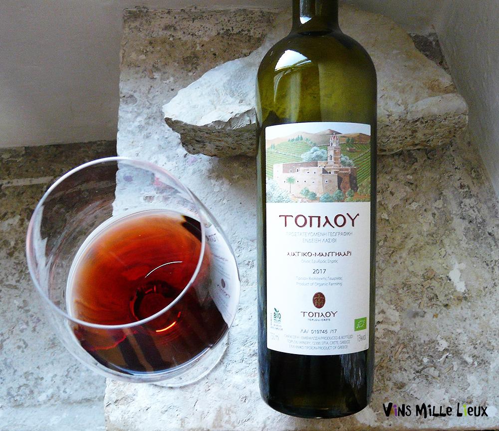 Toplou, Liatiko-Manttilari 2017 vin bio crétois