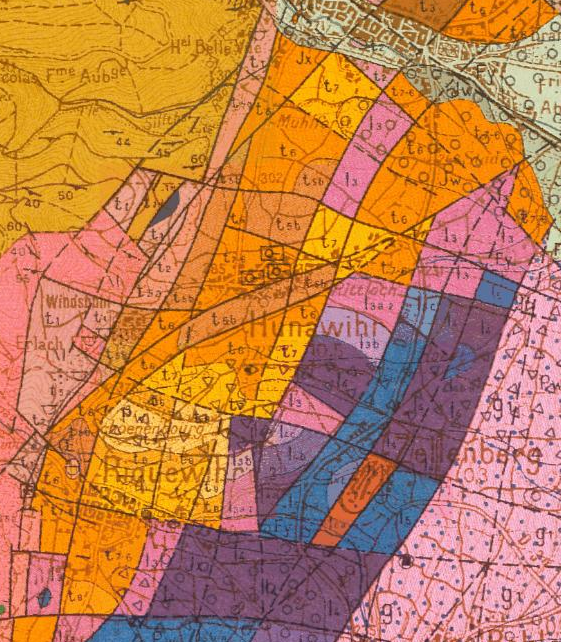 La carte et le peintre : parallèle entre carte géologique et art abstrait
